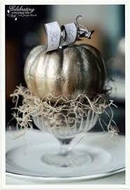 silver pumpkin decor - Google Search