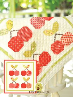 Mini Quilt Pattern by Fig Tree & Co Mini Quilt Patterns, Pattern Blocks, Pdf Patterns, Hanging Quilts, Quilted Wall Hangings, Easy Quilts, Mini Quilts, Mini Cherry Pies, Patriotic Quilts