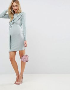 Dorothy Perkins Maternity Spot Sweetheart Button Detail Dress Vestido para Mujer