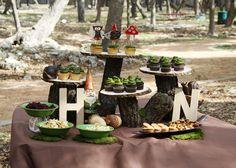 woodland animal party decor