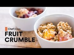 Simple Fruit Crumble with Oatmeal Streusel Topping (Gluten-free)