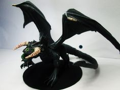Adult Black Dragon  Original Model From http://www.shapeways.com/designer/mz4250/creations