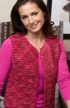 Easy Going Vest Knitting Pattern