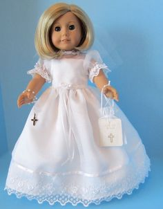 American Girl Doll: First Communion Sheer/lace by SewSpecialByBarb