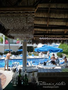 Bar and pol at Dolphin Cove Inn, Manzanillo, Mexico