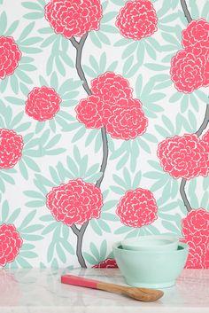 Mint Fleur Chinoise Wallpaper
