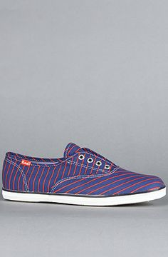 $45 Keds The Champion Laceless Candy Stripe and Plaid Sneaker in Bright Blue on Karmaloop  -- Use repcode SMARTCANUCKS at the checkout for 20% your order on karmaloop.com -- http://lovekarmaloop.com