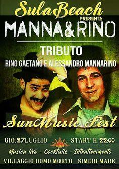 Terzo appuntamento del Sun Music Fest. Ad intrattenere : Manna&Rino,band calabrese  che da forma nuova ai successi di Rino Gaetano e Alessandro Mannarino