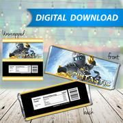 Ninjago Zane white Candy Bar Wrappers, Hershey Bar Wrappers, party favor - PRINTABLE INSTANT DOWNLOAD