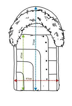 Конверт зимний для новорожденного выкройка