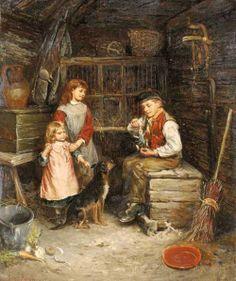 The new toy - Edwin Thomas Roberts (1840 – 1917, English)