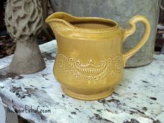 Regency+Ironstone+Pitcher++Canonsburg+Pottery+by+NoSugarExtraCream,+$15.50