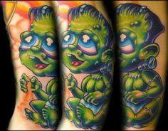 Baby Frankenstein Tattoo Josh Woods