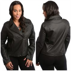 Jacket NWOT 2x fits 12/14 best or small 16 faux leather Jackets & Coats