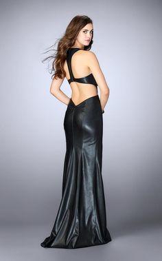 Black Tie Affair, Evening Dresses, Formal Dresses, Leather Dresses, Couture Dresses, Dress To Impress, Vegan Leather, Two Piece Skirt Set, Sexy