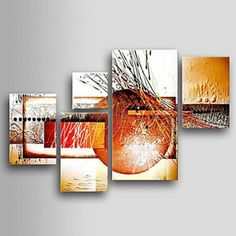5 pcs Hand-painted Abstract Oil Painting -Modern Oil Painting on Canvas-Canvas Wall Art Ready to Abstract Canvas Wall Art, Easy Canvas Painting, Mosaic Wall Art, Canvas Canvas, Modern Oil Painting, Oil Painting Abstract, Drip Art, Hand Painted, Art Deco