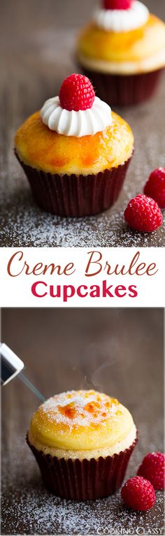 Creme Brulee Cupcakes - these cupcakes are DIVINE! Two of my favorite desserts in one! Creme Brulee Cupcakes - these cupcakes are DIVINE! Two of my favorite desserts in one! Cupcake Flavors, Cupcake Recipes, Baking Recipes, Dessert Recipes, Picnic Recipes, Baking Cupcakes, Yummy Cupcakes, Cupcake Cakes, Cup Cakes