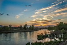 Sunrise Over The Payette River: See more images at http://robert-bales.artistwebsites.com/