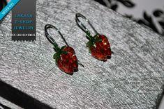Lakasa e-shop | Jewelry #freeshipping #strawberry #jewelry #sterlingsilver #silver925 #handmade #earrings #fruits #handmadejewelry #springtime #silver #romanticstyle #enameljewelry #lakasaeshop #handmadeearrings #fruitjewelry #freeshipping #joyas #mujer #moda #womangifts #κοσμημα #ασημενιο #επιπλατινωμενο #χειροποιητο #σμαλτο #σκουλαρικια #δωρεαν #αντικαταβολη Cross Jewelry, Jewelry Art, Jewelry Gifts, Handmade Necklaces, Handmade Jewelry, Pearl Anniversary, Religious Jewelry, Handmade Silver, Sterling Silver Earrings