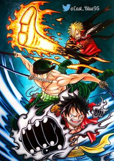 One Piece Monster trio by Ryoku95