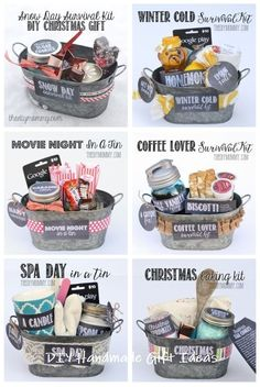 Gift in a Tin: Christmas Baking Kit DIY Gift Basket Ideas : for Spa Day , Coffee Lovers, Winter Christmas & Movie Night.)DIY Gift Basket Ideas : for Spa Day , Coffee Lovers, Winter Christmas & Movie Night. Creative Gifts, Cool Gifts, Creative Christmas Gifts, Family Christmas Gifts, Homemade Gifts For Christmas, Christmas Gift Kits, Inexpensive Christmas Gifts, Diy Holiday Gifts, Teacher Christmas Gifts