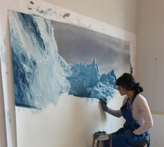 Zaria Forman's pristine, photorealist paintings of the ocean and remote, icy landscapes are painted by hand—quite literally using her fingertips to render marks in paint and chalk, rather than brushes. Traveling to far-flung corners of the globe affected by climate change, in order to source inspiration for her large-scale compositions, Forman takes photographs and creates sketches, working from these and her memory in the studio after she returns to the US. Past expeditions have included…