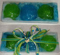 Spring Grass Green & Aquamarine-Elegant by JoannasScentedSoaps