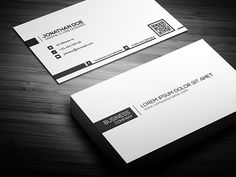 Minimal Business Card2 Different Colors:- White- BlackDetails:- Easy to modify- CMYK- 300 DPI- 3.5 x 2- Print ready- Layered PSDFonts:- Fontfabric.com/nexa-free-font-Tw Cen MT (Default microsoft font, can be replaced with other sans-se… Minimal Business Card, Elegant Business Cards, Business Card Logo, Name Card Design, Banner Design, Typographie Fonts, Plastic Business Cards, Visiting Card Design, Presentation Cards