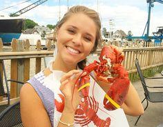 kaforrest:  Dinner with my Maine man, Mr. Lobster