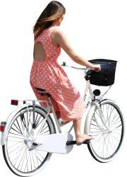 Cutout Woman Bicycle 0012 available for download in XL size
