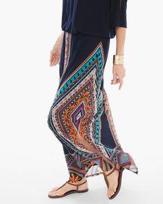 Diamond Multi-Print Maxi Skirt