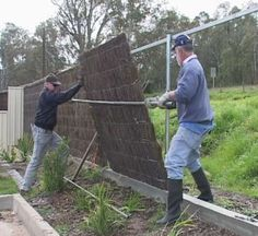brushwood fencing panel installer and contractor contact details, AUSBRUSH PANELS, Australia