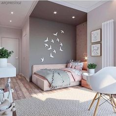 45 cute and girly bedroom decorating tips for girl 15 Home Room Design, Room Design, Bedroom Makeover, Girl Bedroom Designs, Dream Bedroom, Bedroom Interior, Bedroom Decorating Tips, Dream Rooms, Kid Room Decor