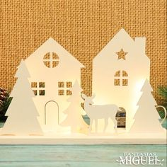 Diy Christmas Village, Diy Christmas Decorations Easy, Christmas Crafts For Kids To Make, Xmas Crafts, Christmas Art, Christmas Projects, Diy And Crafts, Paper Crafts, Christmas Ornaments