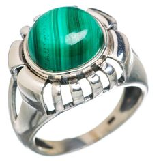 Malachite 925 Sterling Silver Ring Size 9.25 RING766425