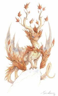 watercolor dragon 4 by sandara