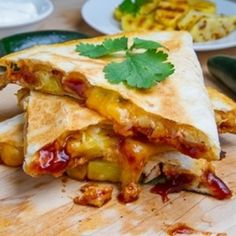 BBQ Chicken and Pineapple Quesadillas   Weight Loss Recipes for Women