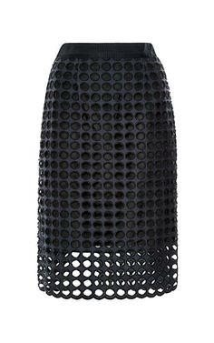 Navy Giant Eyelet Pencil Skirt by Sea for Preorder on Moda Operandi