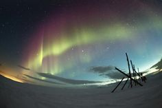 National Geographic Russia's photo on Google+ Северное сияние, Кольский полуостров.
