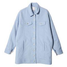 Casual Flap Pocket Accent Coat (Sky Blue) | STYLENANDA