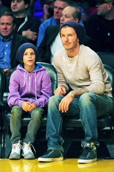 Image detail for -Romeo Beckham and David Beckham