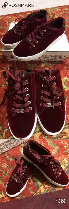 Burgundy Velvet Sneakers NWT Shoes 7.5 Burgundy Velvet Sneakers NWT Shoes 7.5 Liz Claiborne Liz Claiborne Shoes Sneakers