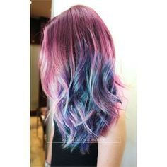 Unicorn hair color ❤ liked on Polyvore featuring beauty products, haircare and hair color