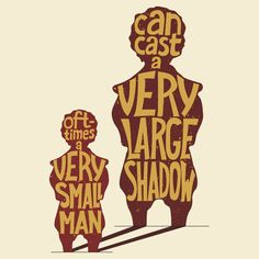 Small man - large shadow, Game of Thrones by ZsaMo