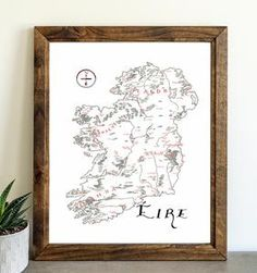 Ireland – Lord of Maps Make A Map, Card Stock, Ireland, Vintage World Maps, How To Draw Hands, Lord, Drawings, Lorde, Sketches