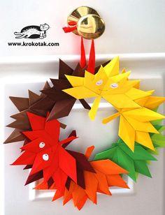 DIY Children's : DIY Autumn paper leaves