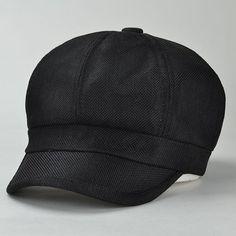 Chic Simple Solid Color Sunscreen Women's Linen Newsboy Cap #shoes, #jewelry, #women, #men, #hats