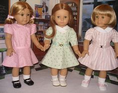 Doll Clothes Pattern Memories No 1026 by medwelch on Etsy Doll Dress Patterns, Doll Sewing Patterns, Clothing Patterns, American Doll Clothes, Ag Doll Clothes, American Girl Catalog, American Girls, Little Girl Dresses, Girls Dresses