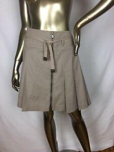 2312f150d1fc Burberry Brit Pleated Belt Zipper Skirt Sz US 8 ✨