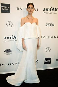 Red carpet de amfAR New York Gala 2014: Lily Aldridge